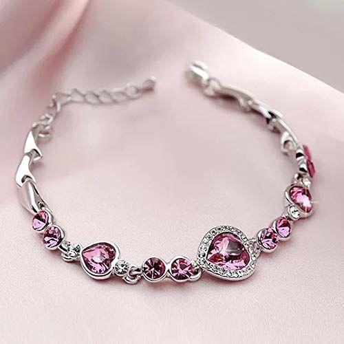 Shining Diva Fashion Romantic Gift of True Love Titanic Heart Austrian Crystal Bracelet for Women and Girls