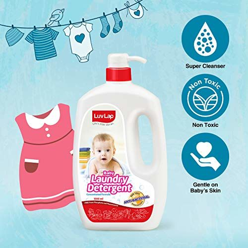 LuvLap Baby Laundry Liquid Detergent, Food Grade,1000ml