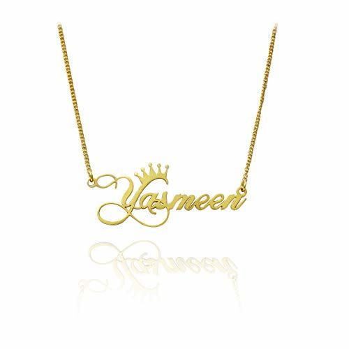 Artisans Crafted Name Necklace High Quality Polished Available in Gold Plated,Silver Plated,Rose Gold Plated Rhodium Plated At Unbeatable Price Brass Metal Necklace