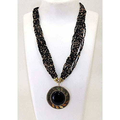 VAGHBHATT Fashion Tibetan Beads Necklace for Women and Girls