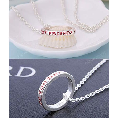 Yellow Chimes Friendship's Day Special 3 Best Friends Forever BFF Combo of 3 Necklace Chain Pendant for Girls Bestie Gift