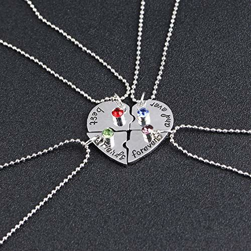 Yellow Chimes Friendship's Day Special 4 Best Friends Forever BFF Combo of 4 Necklace Chain Pendant for Girls Bestie Gift