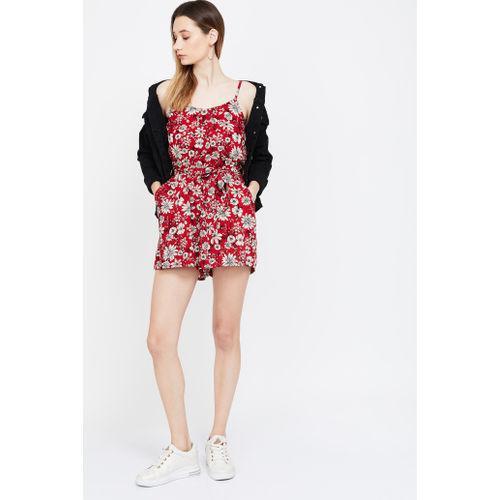 GINGER Floral Print Sleeveless Jumpsuit