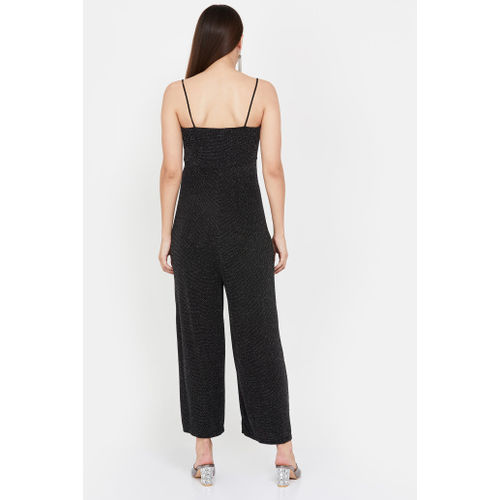 GINGER Textured Sleeveless Ankle-Length Jumpsuit
