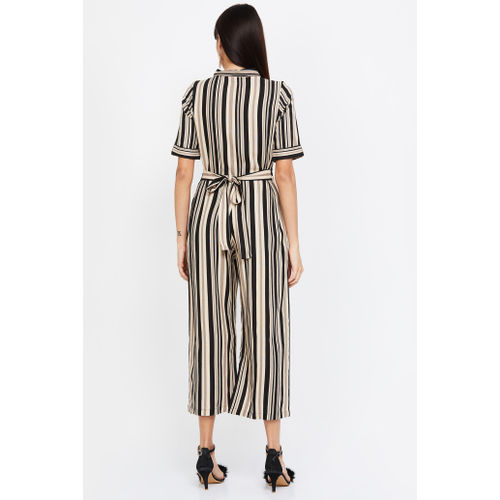 AND Striped Cropped Jumpsuit