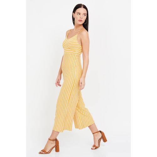 GINGER Striped Sleeveless Jumpsuit