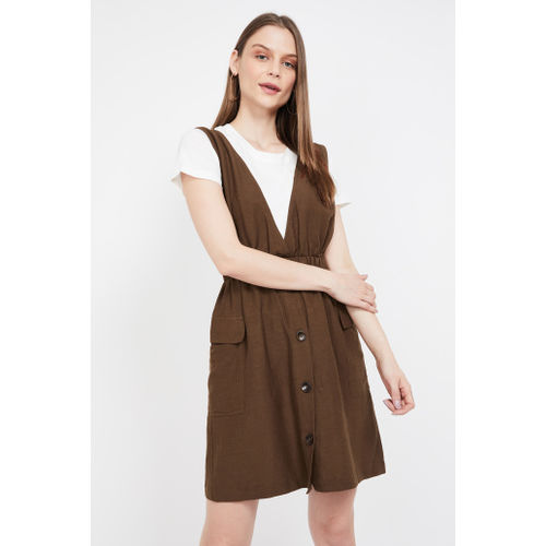 GINGER Solid Pinafore with Top
