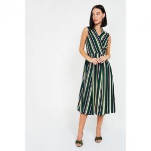 LATIN QUARTERS Women Striped Sleeveless Dress