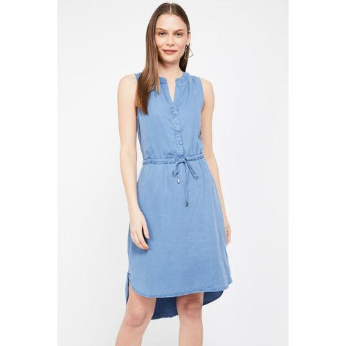VERO MODA Solid Sleeveless High-Low Sheath Dress