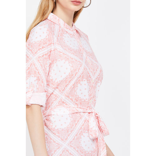 FAME FOREVER Printed Full Sleeves Dress