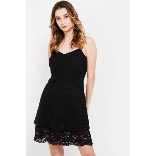 VERO MODA Floral Lace Sleeveless Skater Dress