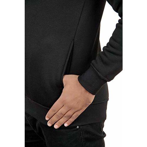 TeeBustrr Men's Jacket (NOPE_Zipper-Hoodie-Black)