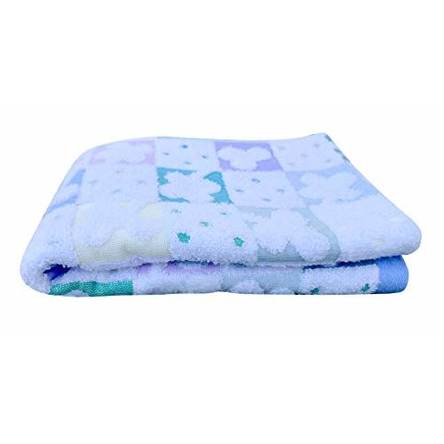THE LITTLE LOOKERS Baby Bath Towel & Wascloth for Babies/Infants Blue
