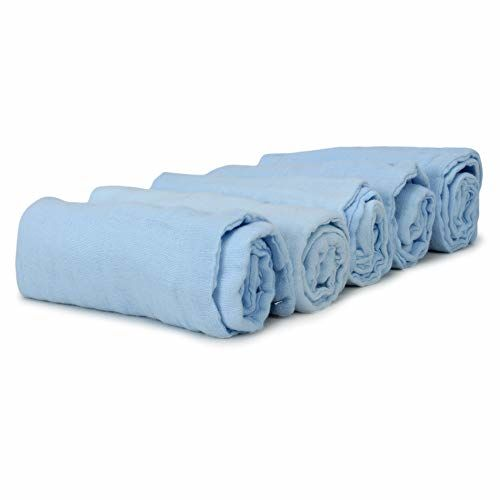 KASSY POP CURATED JUST FOR YOU Premium Blue Baby Muslin Towels cum Square Wipes Muslin Baby Washcloths, Premium Reusable Wipes, Cotton Muslin Squares, Super
