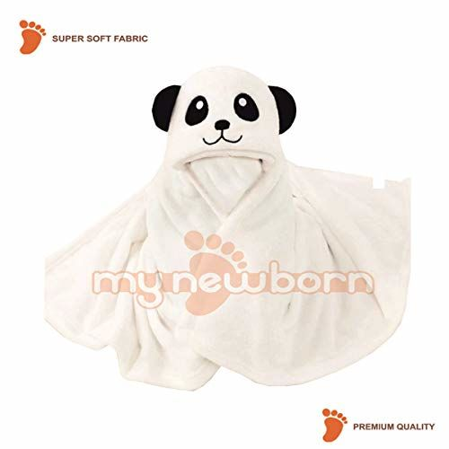 My Newborn Luxury Brand Super Soft Baby Bath, Hand and face Towels-Pack of 2 (2Pc- Katty-Panda)