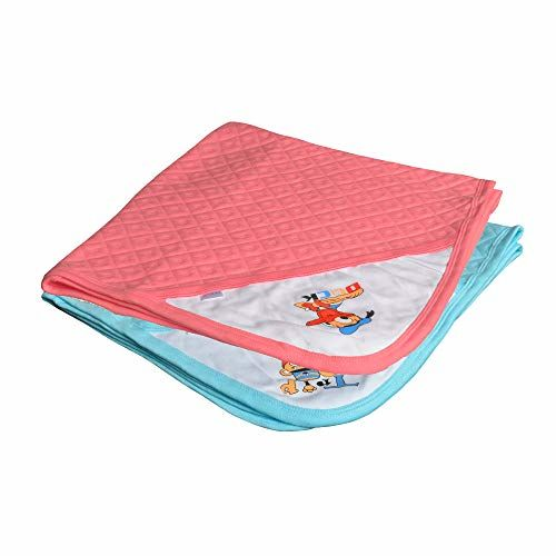 CATCUB Ultra Soft Cotton Baby Hooded Towel Combo - Pack of 2 (Blue II Coral Pink)