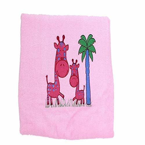 KILKARIYAA Tinycare Baby's Solid Plain Centre Printed Towel (Multi)