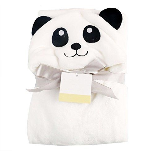 My NewBorn Luxury Brand Meow and Panda Shape Soft Baby Bath, Hand and Face Towels (Pink) - Pack of 2