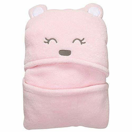 My Newborn Baby Bath Robe Cum Ultra Soft Wrapper (1-Pink-Meaw)
