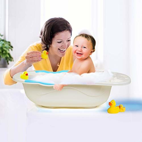 LuvLap Baby Bathtub with anti-slip base (Blue)