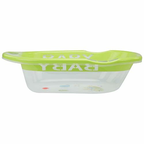 LuvLap Fun Club Baby Bathtub with Transparent Body (Green)