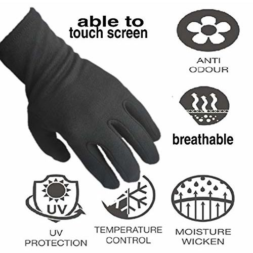 wji men's and women's cotton hand gloves washable sun protection(black,medium size) hand gloves for men cotton