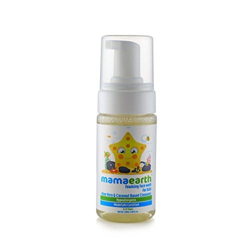 Mamaearth Mineral Based Sunscreen for Babies, White, 50ml & Mamaearth Foaming Baby Face Wash for Kids with Aloe Vera and Coconut Based Cleansers, 120 ml