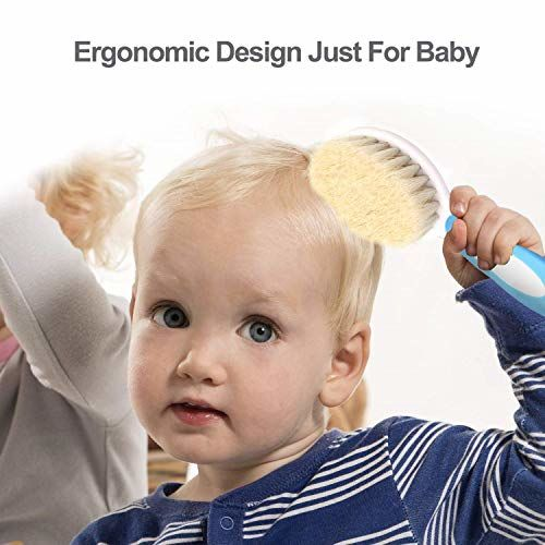 Baybee Comb and Brush Set Baby Care Set for Newborns (Grooming Set) (Green)
