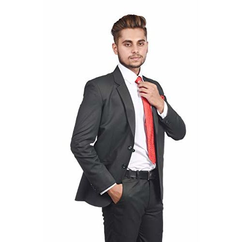 Generic White Bow Men's Slim Fit Formal Two Piece Suit