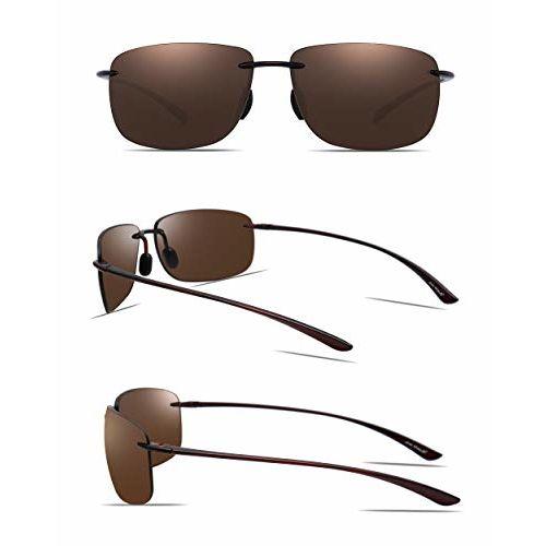JIM HALO Sport Sunglasses for Men Women TR90 Rimless Unbreakable Frame for Running Fishing Baseball Driving