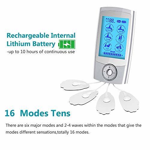 Kedsum 16 Models Tens Unit Rechargeable Pain Relief Electric Pulse Impulse Body Massager Machine