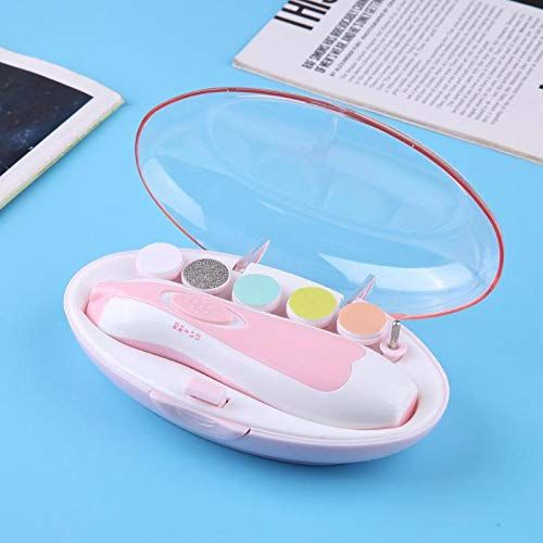 NIRVA WITH DEVICE OF WOMEN PICTURE New Baby Nail File Electric,Baby Nail Trimmer with 6 Grinding Heads Safe for Newborn Baby