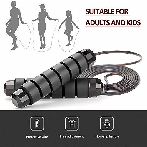 GOCART WITH G LOGO Skipping Rope for Men Gym, Women, Weight Loss, Kids, Girls, Children, Adult Best in Sports, Fitness, Exercise, Workout