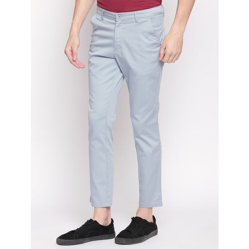 Solemio light blue solid chinos