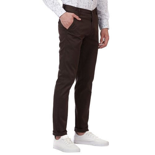 Tahvo brown solid chinos