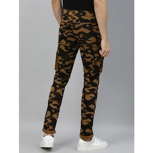Urbano Fashion brown camouflage cargo trouser