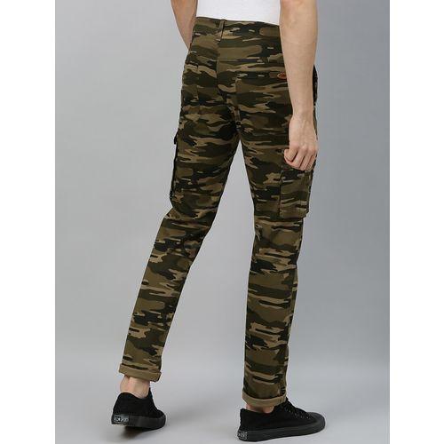 Urbano Fashion olive green camouflage cargo trouser