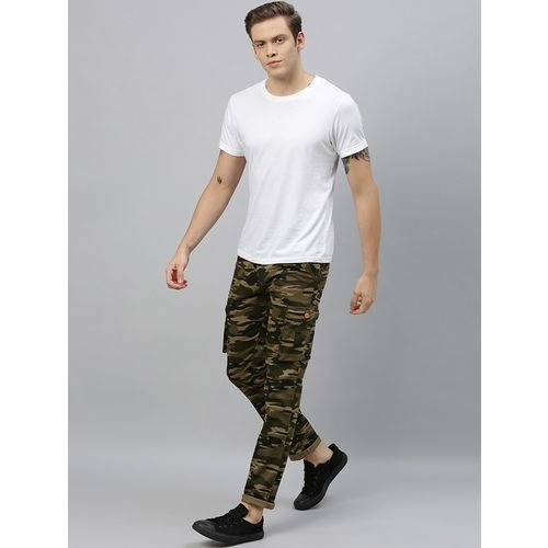Urbano Fashion olive green camouflage cargo trouser