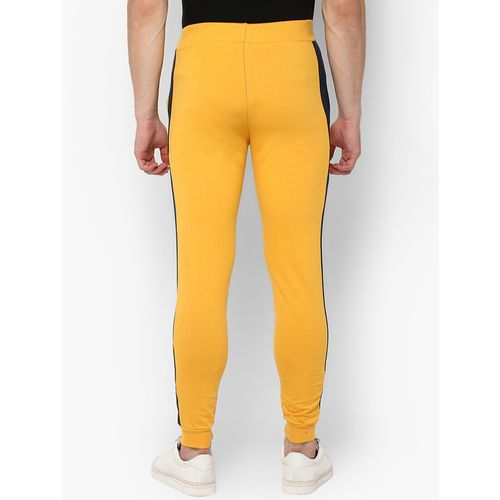 Urbano Fashion yellow side taped jogger