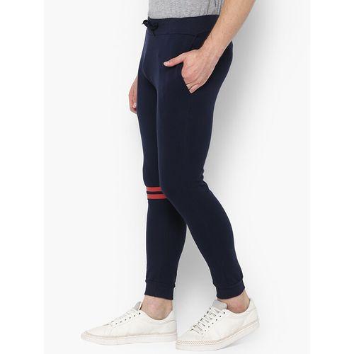 Urbano Fashion navy blue striped jogger