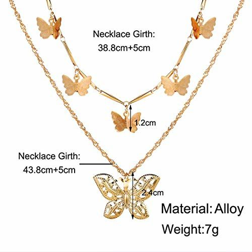 Jewels Galaxy Multi Layered Gold Plated Stunning Necklace for Women/Girls