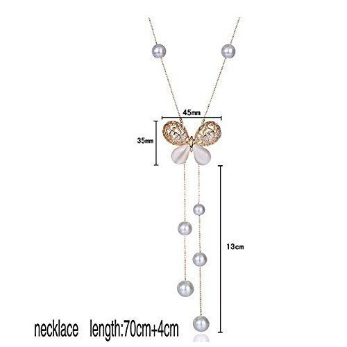 Valentine Gifts for Girlfriend/Wife : YouBella Jewellery Pendants for Girls with Long Chain Party Necklace for Women & Girls