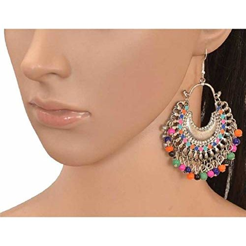 Alcove Silver/Gold Plated Alloy Oxidized Earrings For Women And Girls (SET Of 10)