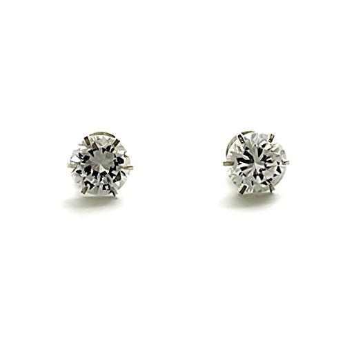 Silverwala 925-92.5 Sterling Silver Brilliant Cut Real Cubic Zirconia Stud Earrings For Men,Women,Children,Boys and Girls (10)