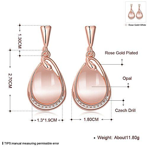 YELLOW CHIMES Austrian Crystal 18k Rose Gold Plated Designer Earrings for Girls and Women