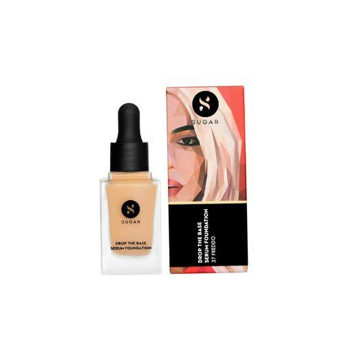 SUGAR Cosmetics sugar drop the base serum foundation - 37 freddo (medium beige, golden peach undertone)