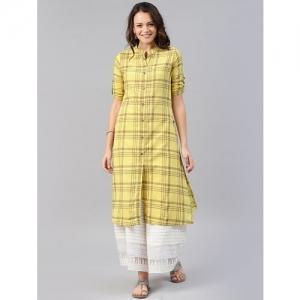 Alena checkered straight kurta