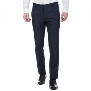 Tahvo grey cotton flat front formal trouser