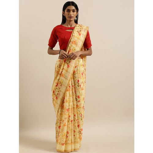 Shavya floral printed saree with blouse
