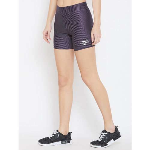 YOGAIR high rise geometric shorts